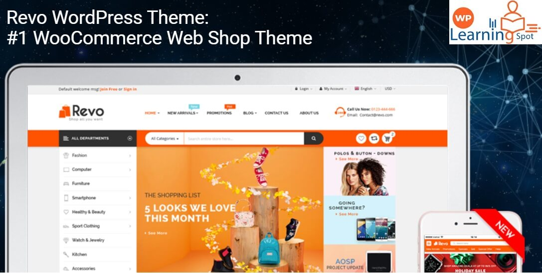 Revo WordPress Theme: #1 WooCommerce Web Shop Theme