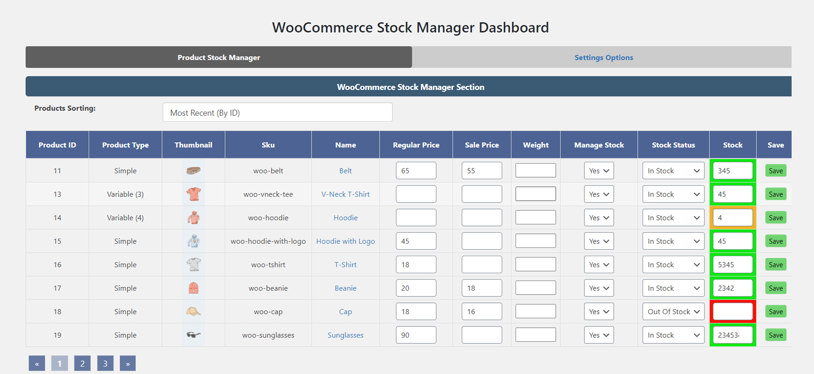 Stock Manager WooCommerce Plugin