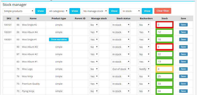 WooCommerce Stock Inventory Management Plugin