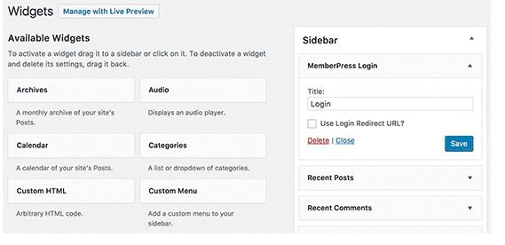 Adding User Login Forms