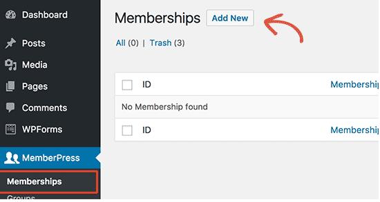 Creating Membership Levels