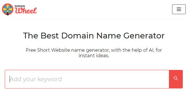 domain name generator wheel